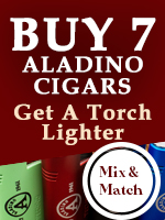 Free Lighter with 7 Aladino Cigars