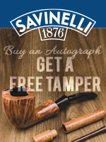 Free Tamper With Any New Savinelli Autograph Pipe