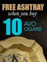 Free Ashtray With Purchase of 10 Avo Cigars