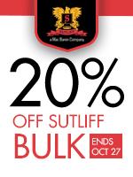20% Off Sutliff Bulk Tobacco