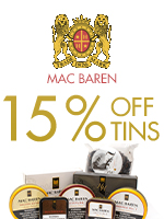 15% Off Mac Baren Tinned Tobacco