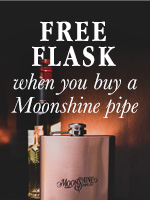Receive A Moonshine Flask With The Purchase Of A New Moonshine Pipe