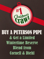 Buy A New Peterson Pipe, Get A Free Tin Of C&D's Wintertime Reserve