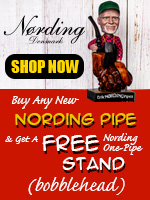 Free Bobblehead Pipe Stand With Each New Erick Nording 4th Gen. Pipe