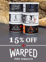 15% Off Of Warped Tinned Tobacco