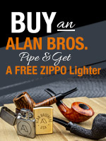 Buy an Alan Bros pipe, Get a Free Zippo lighter