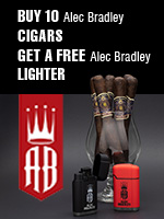 Free Lighter With The Purchase Of Any 10 Alec Bradley Cigars