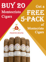 Free 5-Pack With Purchase Of Any 20 Montecristo Cigars