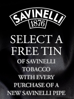 Buy A New Savinelli Pipe, Get A Free Tin Of Savinelli Tobacco