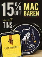 15% Off Mac Baren Tins