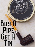 Buy a Peterson Pipe, Get a Peterson Tobacco