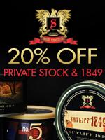 20% Off Sutliff Private Stock & 1849