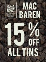 15% Off Mac Baren Tins