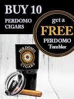 Buy 10 Perdomo Cigars, Get A Free Perdomo Tumbler