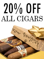 20% Off All Cigars