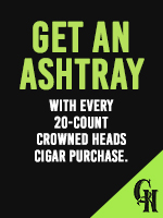 Free with purchase of 20 Crowned Heads Cigars