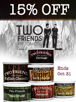15% Off Two Friends Tinned Tobacco