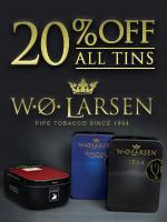 20% Off Larsen Tins