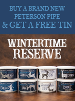 Buy A New Peterson, Get a Tin of Wintertime Reserve