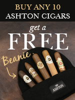Buy 10 Ashton Cigars, get a free Ashton Beanie