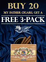 Buy 20 My Father Cigars, Receive A Free 3-Pack