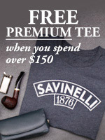 Free Savinelli T-Shirt w/ $150 Purchase!
