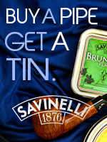 Buy a Savinelli Pipe, Select a Free Savinelli Tobacco