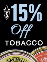 15% Off Savinelli Tobacco