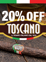 20% Off Toscano Cigars