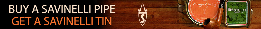 Free savinelli pipe tobacco with Savinelli pipe purchase