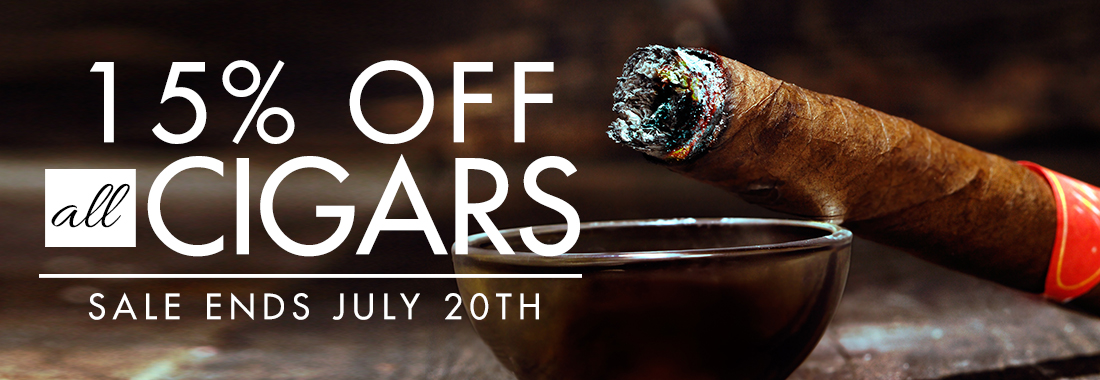 15% Off All Cigars
