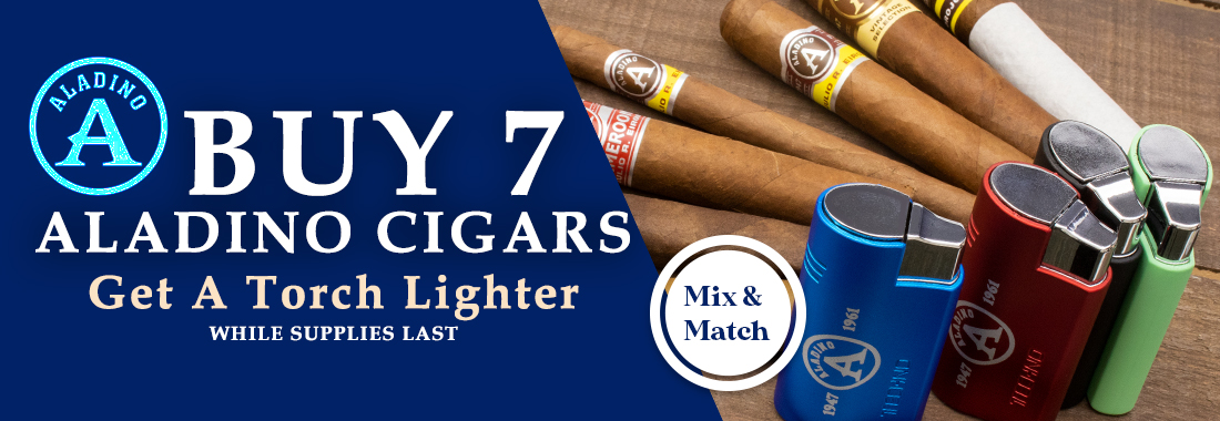 Buy 7 Aladino Cigars, Get A Torch Lighter
