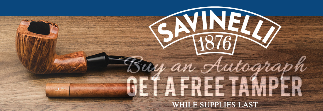 Free Tamper with Savinelli Autograph Purchase