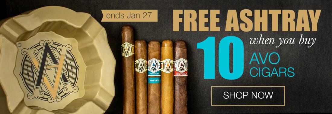 Avo Cigars: Buy 10 get an Ashtray at Smokingpipes.com