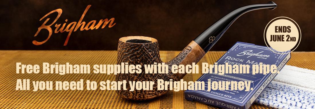 Free Brigham Supplies with each Brigham Pipe