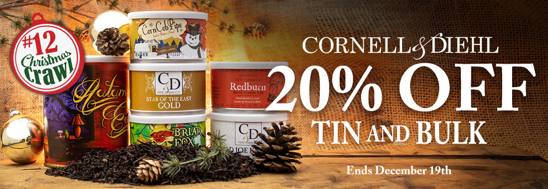 20% Off All Cornell & Diehl Bulk & Tinned Pipe Tobacco at Smokingpipes.com