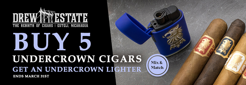 Free Torch Lighter with 5+ Undercrown Cigars