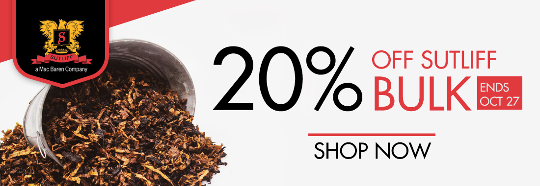 20% Off All Sutliff Bulk Pipe Tobacco