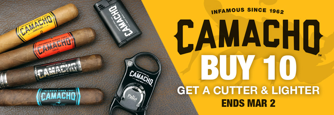 Buy 10 Camacho Cigars get a Lighter or Cutter