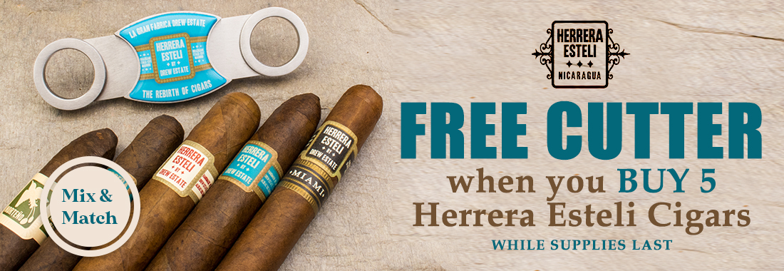 Buy 5 Herrera Esteli Cigars, Receive a Free Cutter