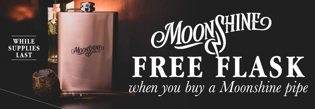 Receive a flask with the purchase of a Moonshine pipe