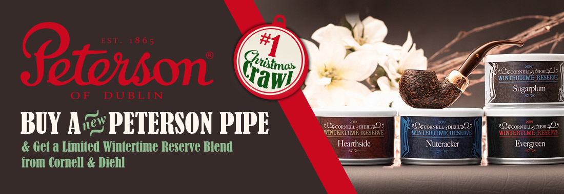 Get A Free Tin of C&D's Wintertime Reserve When You Buy Any New Peterson Pipe