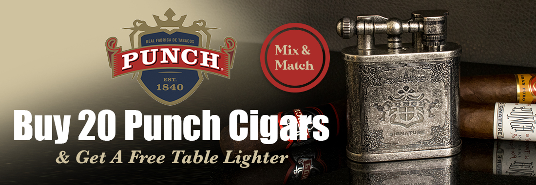 Buy 20 Punch Cigars, Receive a free Table Lighter