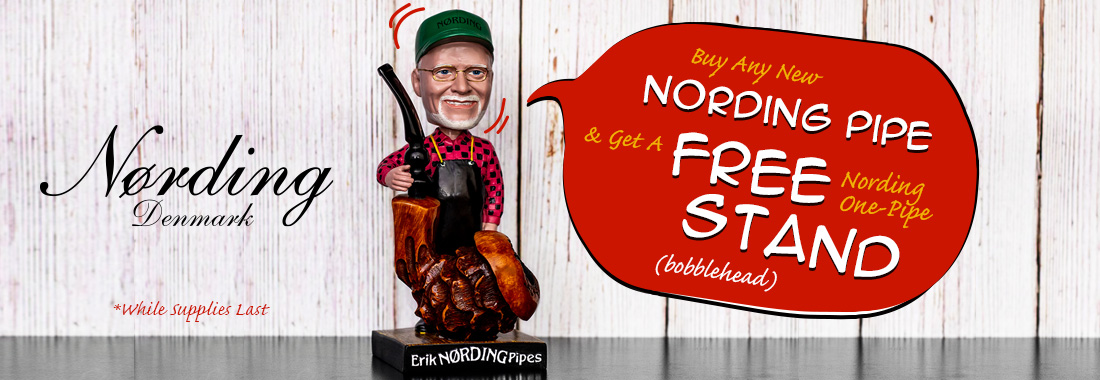 Free Bobblehead Pipe Stand With Any New Erik Nording 4th Gen. Pipe At Smokingpipes.com