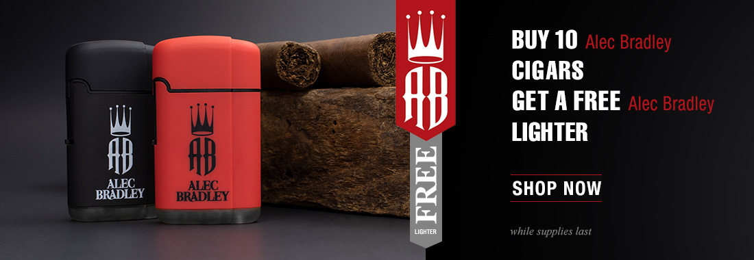 Free Alec Bradley Branded Lighter With The Purchase Of Any 10 Alec Bradley Cigars