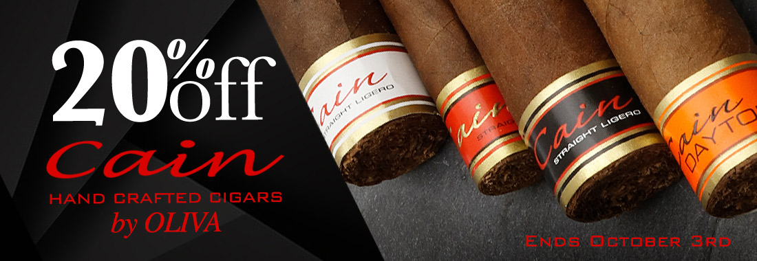 20% Off Cain Cigars