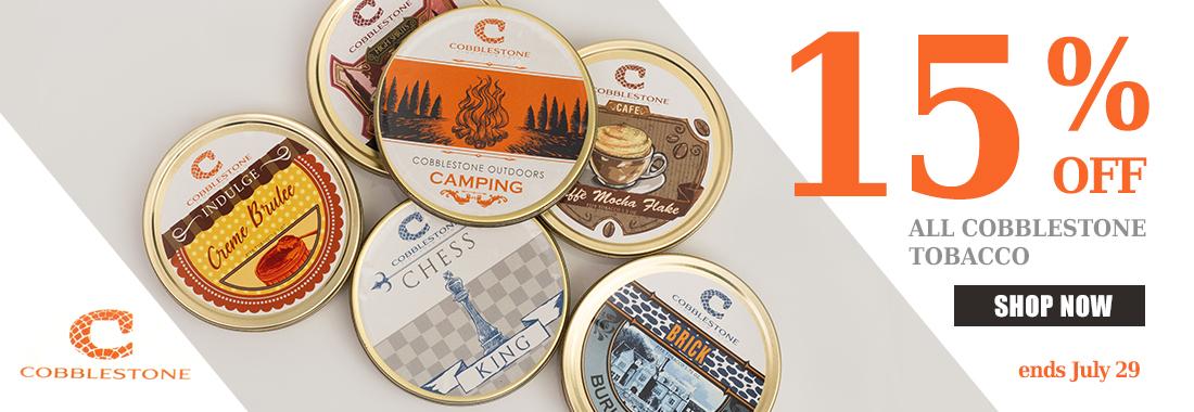 15% Off Of Cobblestone Tins At Smokingpipes.com