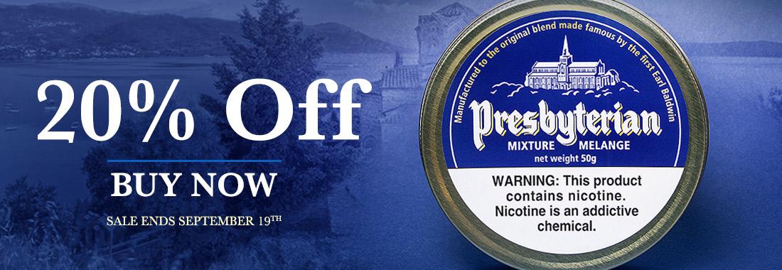 20% Off Presbyterian Pipe Tobacco
