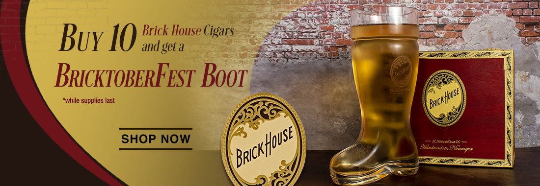 Free Oktoberfest Boot With Any 10 Brick House Cigars