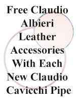 Free Claudio Albieri Leather Accessories With Each New Claudio Cavicchi Pipe
